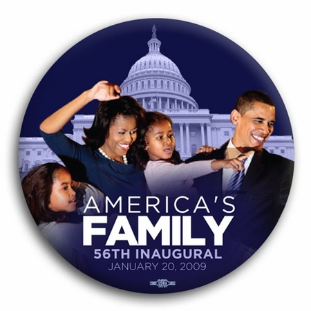 America's First Family 56th Inaugural Button - 3""