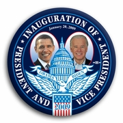 Barack Obama and Joe Biden Inauguration Magnet 3""