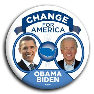 Barack Obama Joe Biden Change For America Button