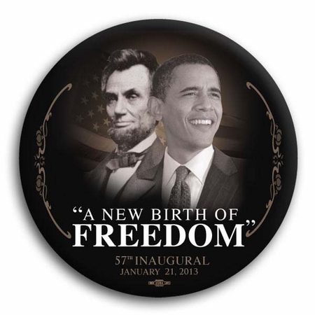 "Barack Obama / Lincoln ""A New Birth of Freedom"" 57th Inaugural Commemorative Magnet 3"""