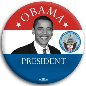 Barack Obama President with Seal Pin Button 3""