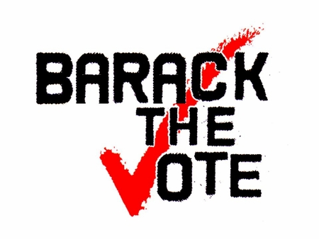 Barack The Vote Button