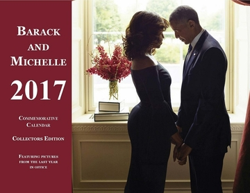 Barack and Michelle 2017 Commemorative Flip Calendar