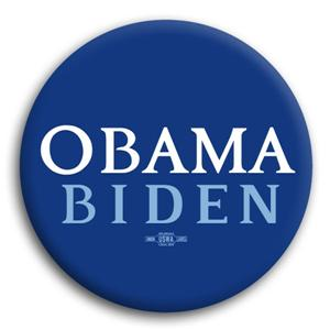 Basic Blue Obama Biden Button
