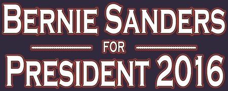 Bernie Sanders For President 2016 Bumper Sticker - Blue