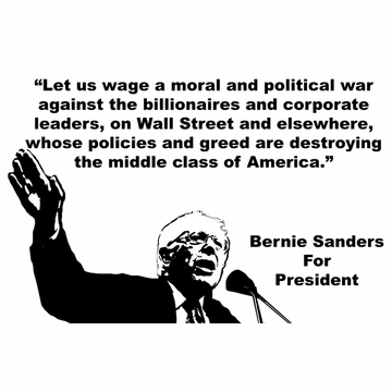 "Bernie Sanders ""War Against The Billionaires"" T-Shirt"