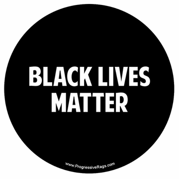 Black Lives Matter Black and White Button