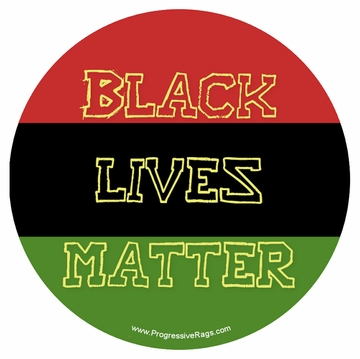 Black Lives Matter Red, Black and Green Button - Available in 3 Sizes!