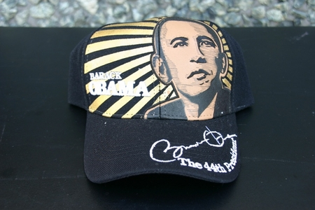 Black Obama Portrait & Signiture Baseball Cap
