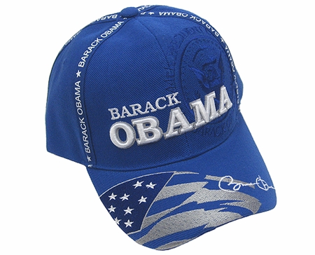 Blue Barack Obama Baseball Cap