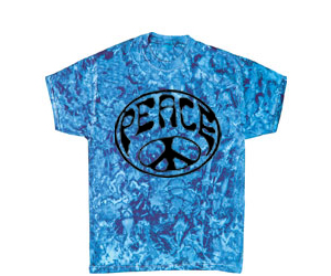 """Blue Crystal"" Wavy Peace Tie Dye T-Shirt"