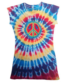 Blue Eyed Peace Sign Tye Dyed T-Shirt