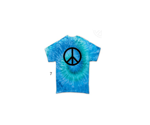 """Blue Jerry"" Peace Tie Dye T-Shirt"