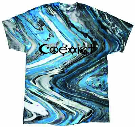 Blue Marble Coexist Tie Dye Shirt