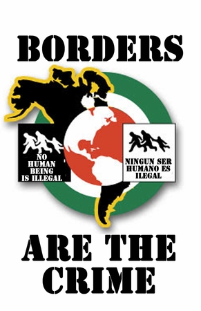 Borders are the Crime.T-Shirt
