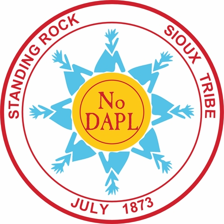Brand New! Standing Rock Sioux Tribe No DAPL Button!