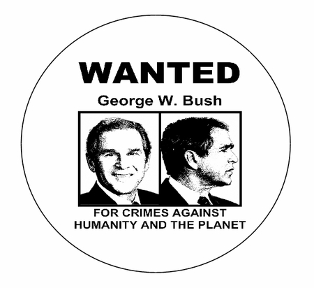 BUSH WANTED BUTTON