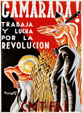"Camarada Work And Struggle For The Revolution Spanish Civil War Poster 11"" X 17"""