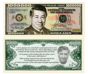 Ceasar Chavez Commemorative Dollar Bill Bookmark