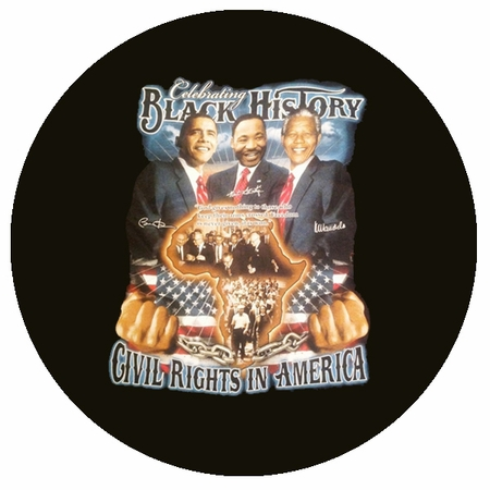 Celebrating Black History Civil Rights In America Button