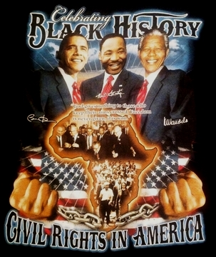 Celebrating Black History: Civil Rights In America T-Shirt - Two Sided!