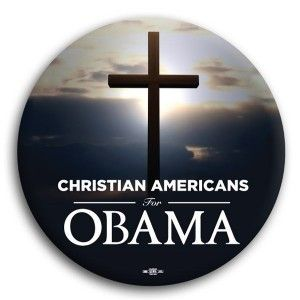 Christian Americans for Obama Button 3""