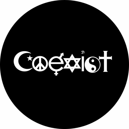 "Coexist Magnet 3"" - Multiple Colors Available"