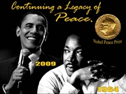 """Continuing A Legacy of Peace Poster 11"""" x 17"""""""