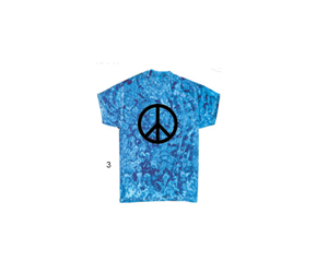 """Crystal Blue"" Peace Tie Dye T-Shirt"