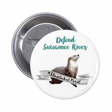 Defend Suwanee River Otter Guardian Button