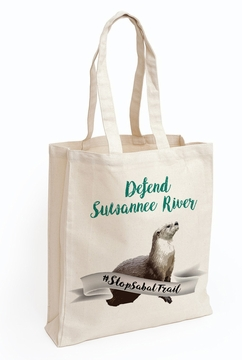 Defend Suwanee River Otter Guardian Tote Bag