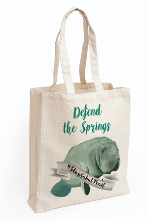 Defend the Springs Manatee Guardian Tote Bag