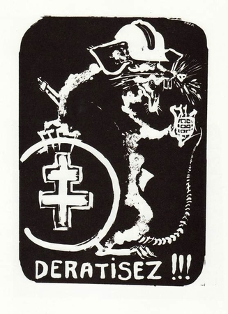 Deratisez (Get Rid of the Rats) Paris 1968 Street Poster T-Shirt