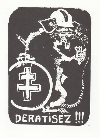 "Deratisez - Paris May 1968 Street Poster 11"" x 17"""