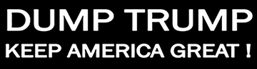 DUMP TRUMP BUMPER STICKER - BLACK