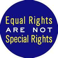 Equal Rights are NOT Special Rights Gay Pride Button