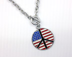 Flag Peace Necklace