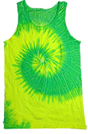 FLO Yellow & Lime Tie Dye Tank Top