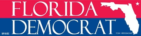 Florida Democrat Pride Bumper Sticker