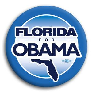 Florida For Obama Button  2.25""