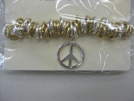 GOLD AND SILVER PEACE BRACELET