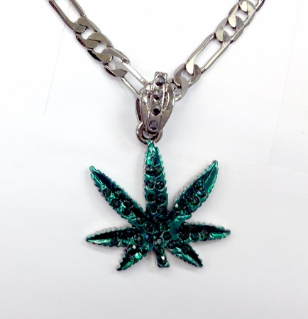 Green Pot Leaf Necklace