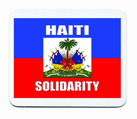Haiti Solidarity Mouse Pad