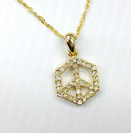 Hexagonal Peace Necklace