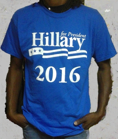 Hillary 2016! Blue T-Shirt As Low As $7.50 Each!