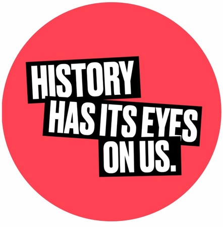 History Has It's Eyes On Us Pin