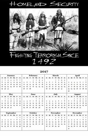 "Homeland Security 2017 Calendar 11"" X 17"""