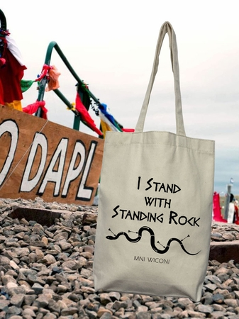 I Stand with Standing Rock Mni Wiconi Tote Bag