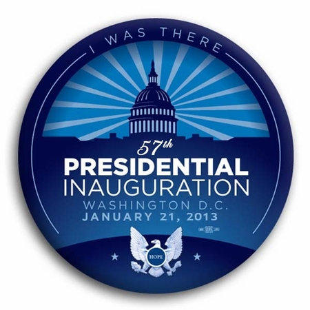 I Was There Blue 57th President Inauguration Button 3""