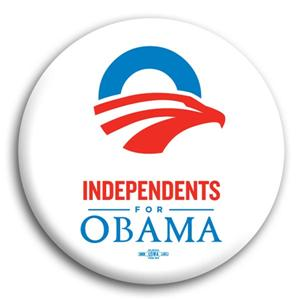 Independents for Obama Button 3""